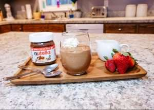 Nutella Mousse dessert